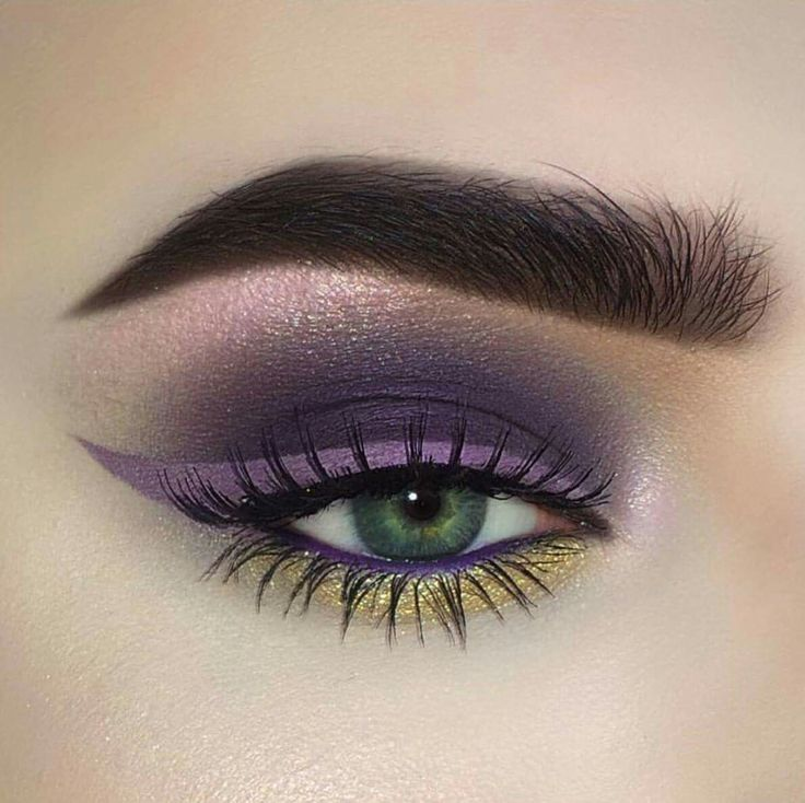Purple and gold eye make up #eyes #eye #makeup #bright #bold #dramatic