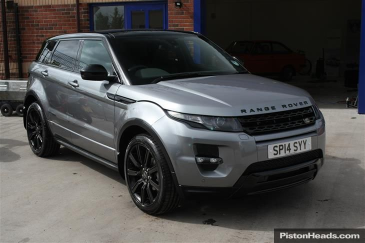 Grey Range Rover Evoque