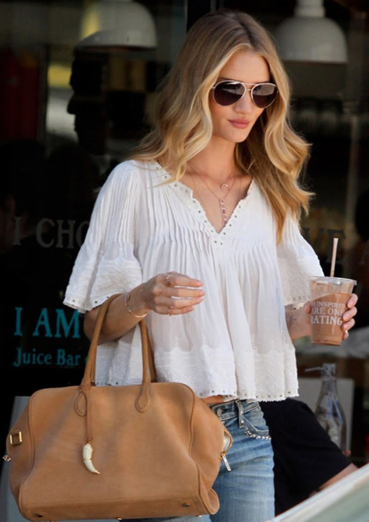Rosie Huntington-Whiteley! Love this! So simple but cute