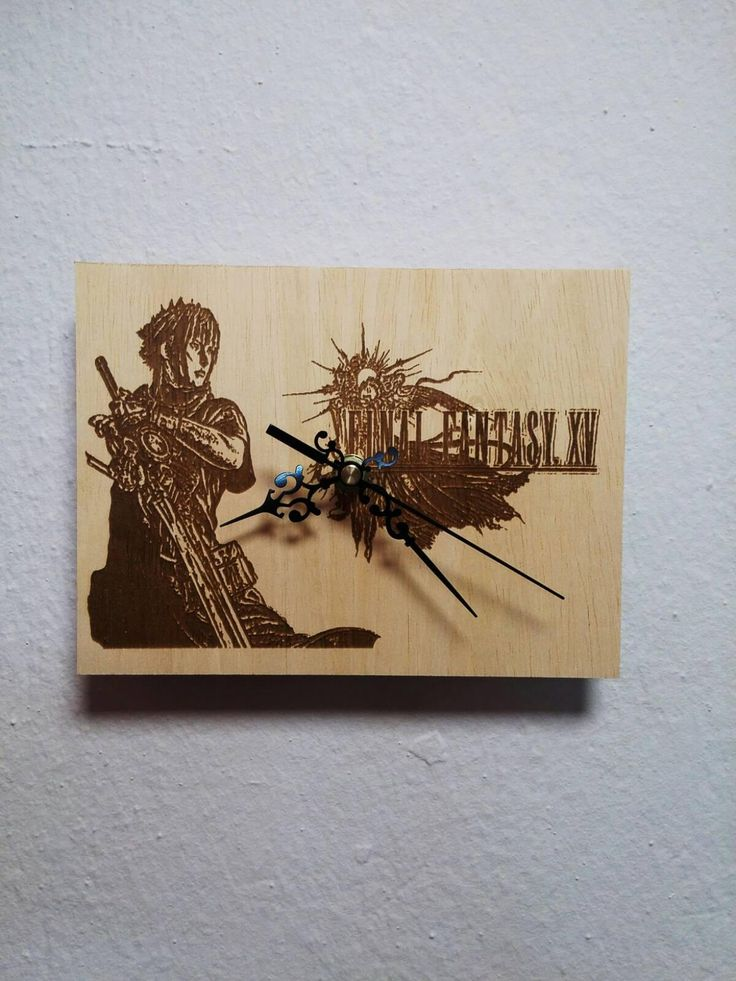 Final fantasy XV wooden wall clock gift for boyfriend, gift for girl, gift for boys, gift for kids http://etsy.me/2ECQf4B #housewares #clock #bedroom #woodenclock #greek #finalfantasy #xv #plywood #wood