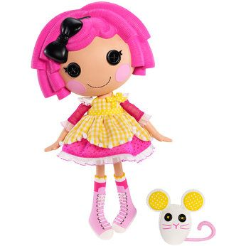 Lalaloopsy Crumbs Sugar Cookie - was made from pieces of a baking apron on 4th December (National Cookie Day). She is super-sweet, has perfect manners, and loves inviting friends over for tea and treats. She has a pet mouse.