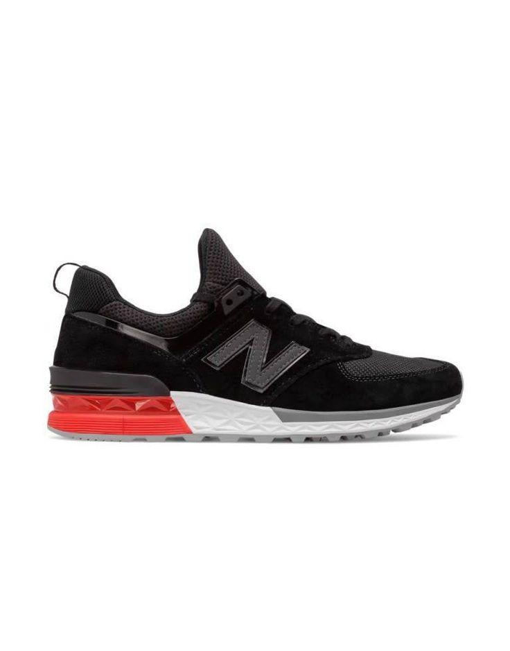 Mens New Balance 574 Fresh Foam Black Red White MS574AB