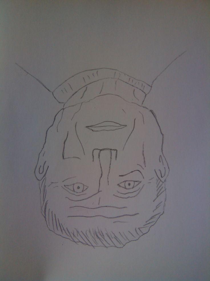 dibujo número 3 realizada al reves