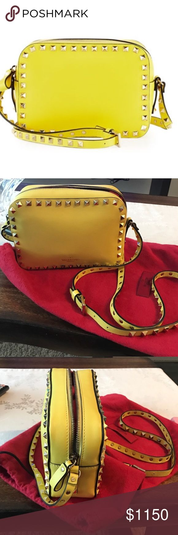 Authentic Valentino Crossbody Authentic Valentino Crossbody. Worn once but in an excellent condition. Bought from Neiman Marcus. Includes tag amd Dust Bag. Valentino Bags Crossbody Bags