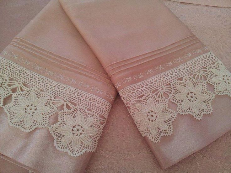 Beyaz motifli dantel çarşaf kenarı