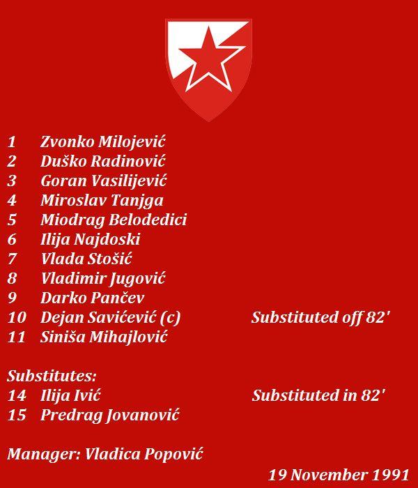 Crvena zvezda Beograd 1991