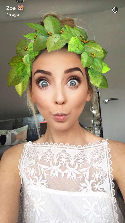 ♡ On Pinterest @ kitkatlovekesha ♡ ♡ Pin: Snapchat ~ Zoella Leaf Crown Filter ♡