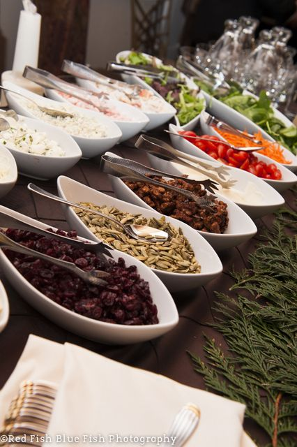 Make your own Salad Station at a Christmas Party #salad #diy