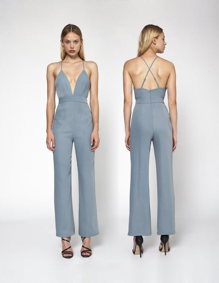 #LianeJumpsuit - Tiffany Wear this with a #kimono-style top or #scarf for daytime, and at night #shrug off those pieces to show off the #deepneckline. #instafashion #fashionista #fashionblogger #ootd #stylish #fashionwear #womenwear #stylishlook #fashionfunda