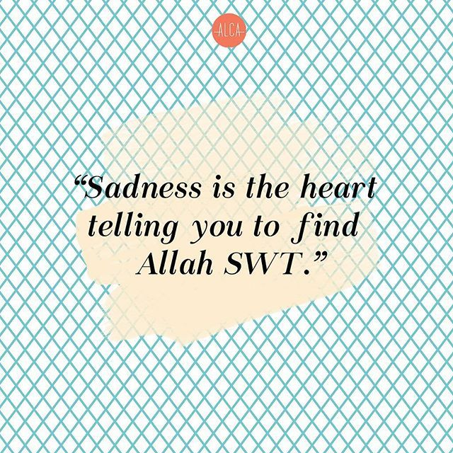 Everything leads back to Allah SWT. Allah s.w.t ❤ is the source of peace.