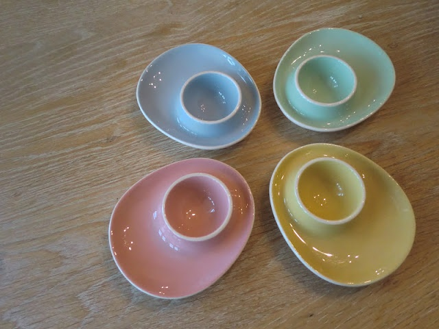 Pastel eggcups from figgjo flint... Want!