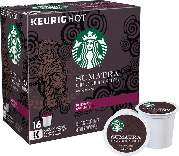 Keurig - Starbucks Sumatra Coffee K-Cup® Pods (16-Pack)