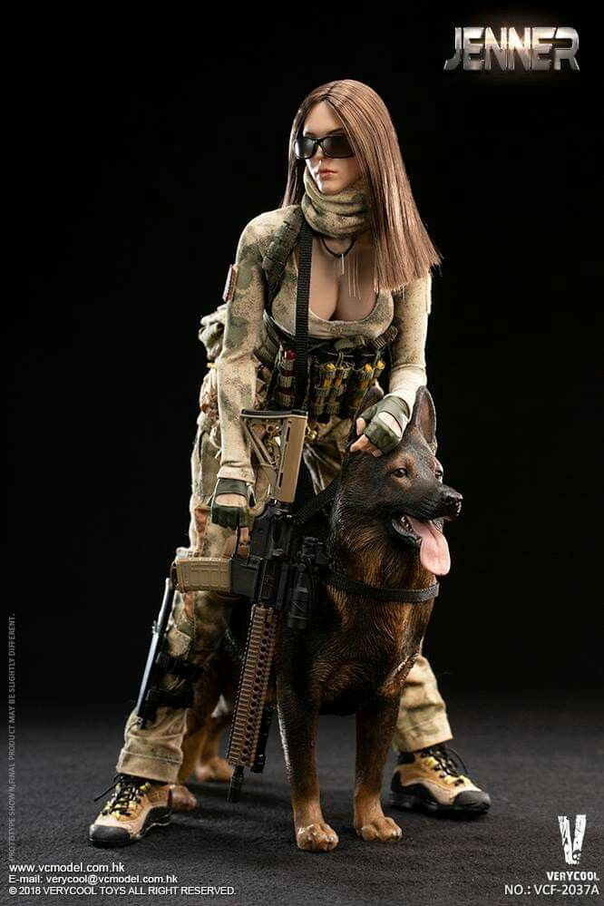 JENNER Head Sculpt VERYCOOL VCF-2037A 1//6 Scale A-TACS FG Women Soldier