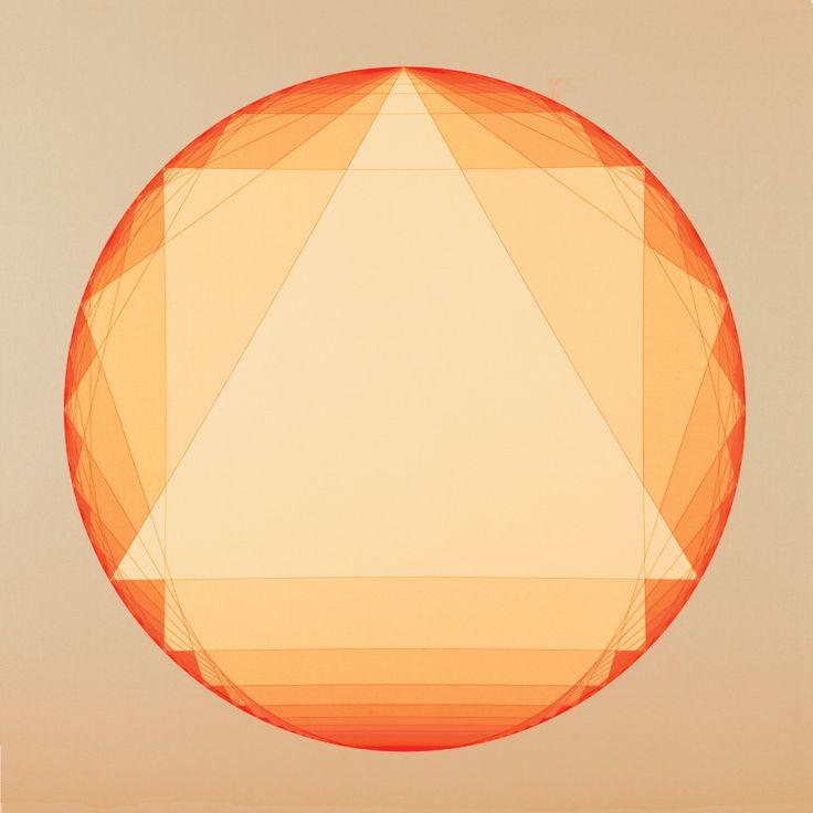 "@AJSmithArt http://smithon.ca/shop #PolygonumProgredi ""Orange Flat Progressive Polygons"" (pair with blue) #SMITHONDay #SMITHONDay2015 #Canada #FineART #IGArtists #ART #Artist 36"" x 36"" #Digital #Pigment #Print on #Canvas #GeometricArt #Artwork - Andrew James Smith"