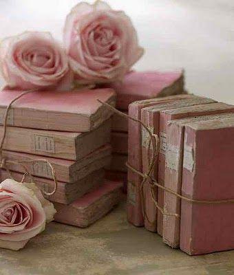 Vintage Pink Books.: Vintage Books, Antiques Books, Pink Vintage, Pink Books, Vintagepink, Vintage Pink, Interiors Design, Pink Rose, Old Books