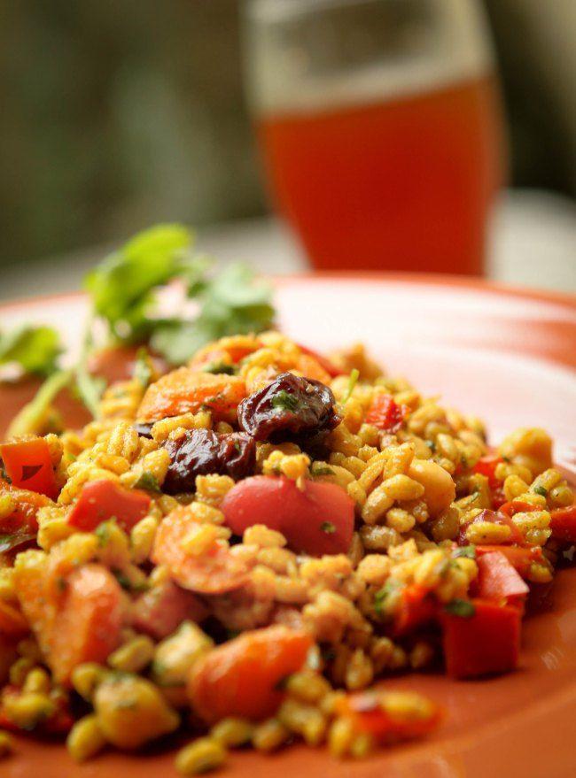 Curried Roasted Vegetable Farro Salad | Foods -- Farro | Pinterest
