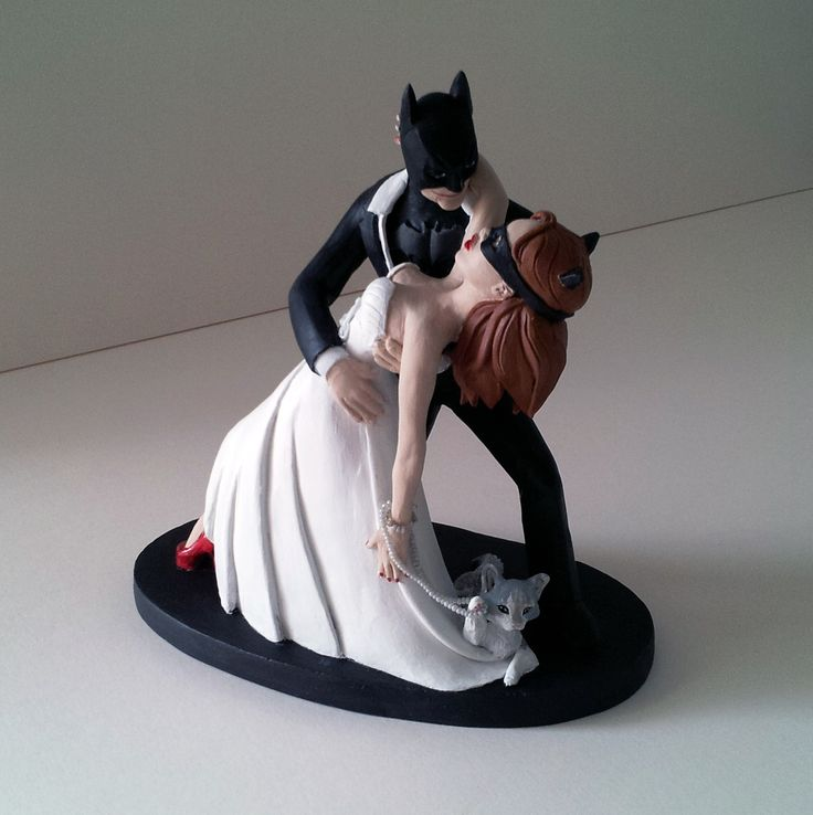 Batman And Bride Cake Topper Uk