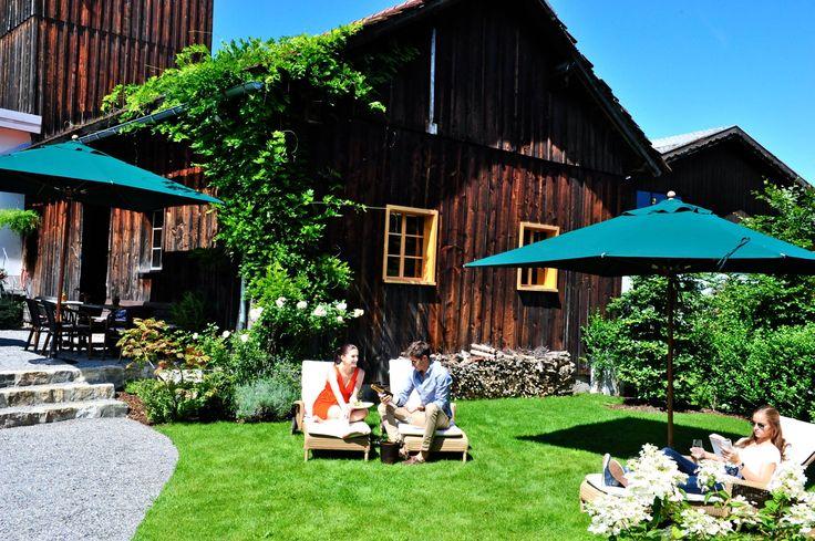 Garden of the Hotel Hirschen in Vorarlberg © Franz Fetz #austria #vorarlberg #hotel #hirschen #garden #austriacollection #visitaustria
