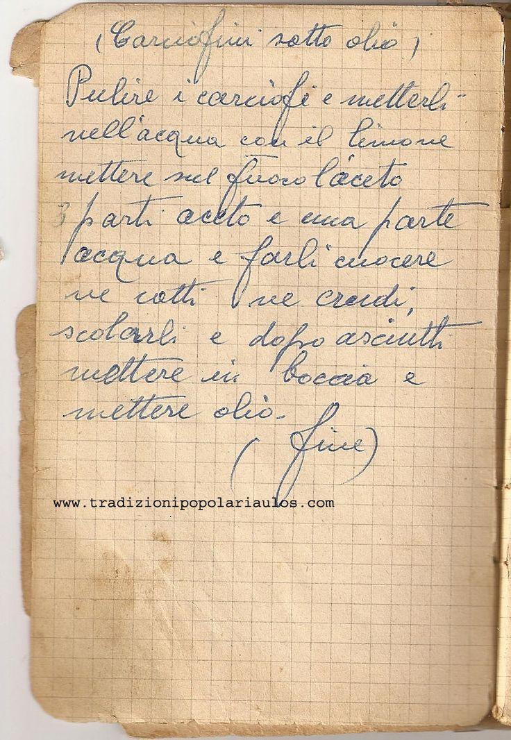 Carciofini sott'olio  - Le ricette di Nonna Maria - Antiche ricette siciliane
