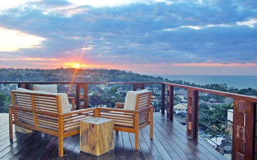 Villa Soma | 4 bedrooms | Jimbaran #rooftop #sunset #lounge