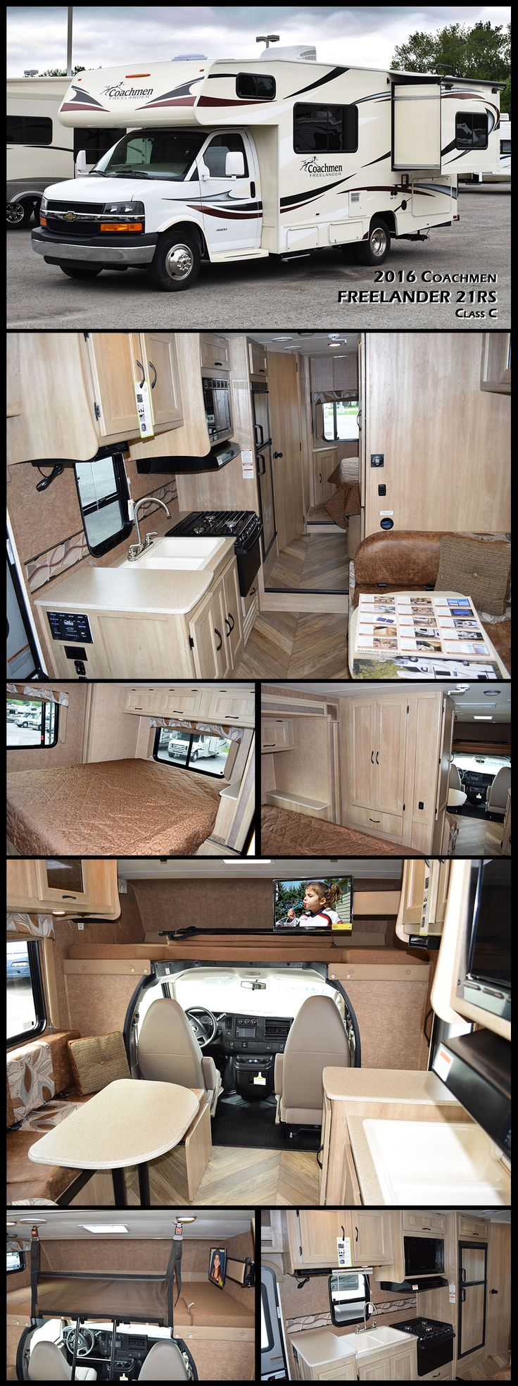"This 2016 COACHMEN FREELANDER 21RS offers you all the ""Good Stuff"" novice RVers quickly appreciate and experienced RVers demand. The 21RS class C motor home is waiting to be your new home on wheels featuring a single slide out for added space inside, sleeping for six, and so much more!"