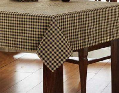Primitive Country Black Amp Tan Check Tablecloth 60 Quot X80