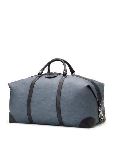 Ghurka+Cavalier+Iii+No+98+Leather+Duffel+Bag+Blue