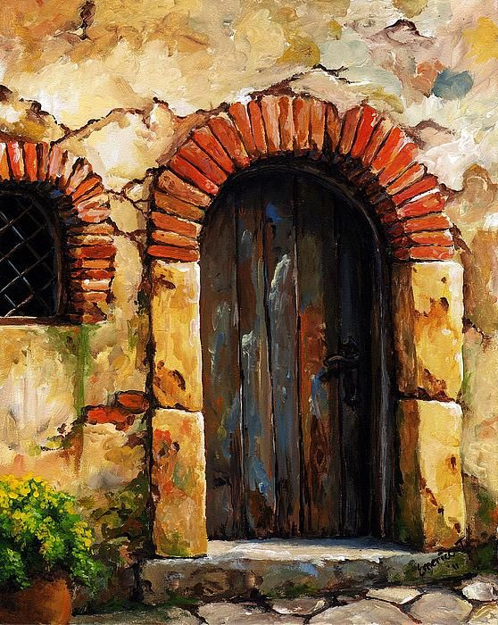 Mediterranean Portal 02 by Emerico Imre Toth - Mediterranean Portal 02 Painting - Mediterranean Portal 02 Fine Art Prints and Posters for Sale