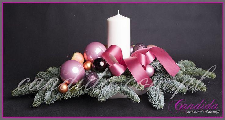 #dekoracjeświąteczne #stroikświateczny stroik świąteczny z jedną świecą