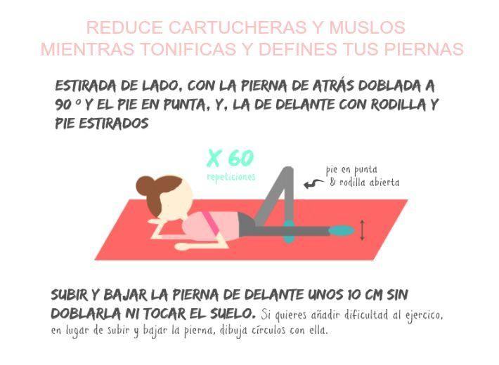 Reduce cartucheras y muslos mientras defines tus piernas