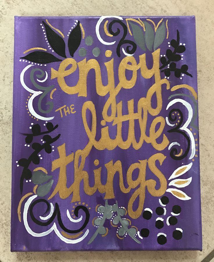 Enjoy the Little Things sorority craft #biglittle
