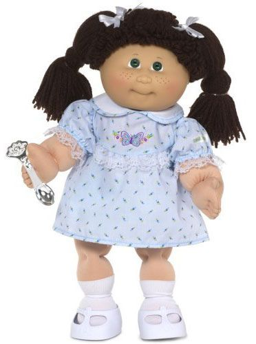 cabbage patch kids...still remember how they smelled like baby powder!