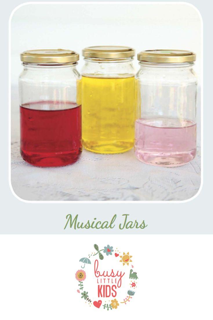 Fun, simple, easy rainy day kids activity - Musical Jars