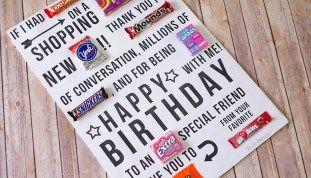Candy Gram Birthday Card {printable}