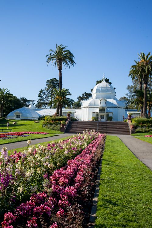 ✓ The Conservatory of Flowers in the Golden Gate Park, San Francisco