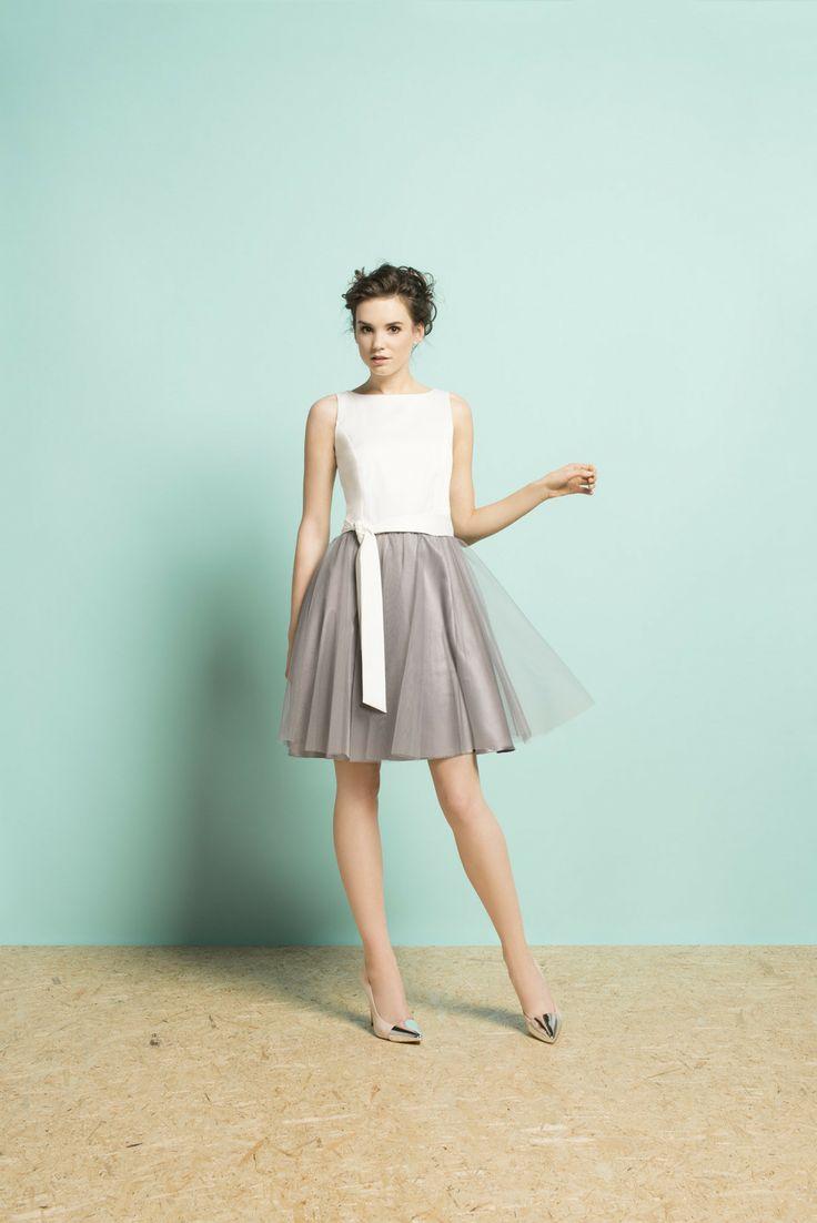 Kolekcja wiosna/lato 2014 #moda #kolekcja #lato #wiosna #wiosna-lato 2014 #SS2014 #danhen #lookbook #tiul #tiulowa spódnica #szary #sukienka #dziewczęca #wesele #okazja #wyjściowa sukienka