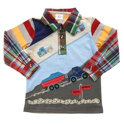 a Long Sleeve Checkered Shirt With Car And Boat Look Overlay-Ac2842-Checkered $15.00 on Ozsale.com.au