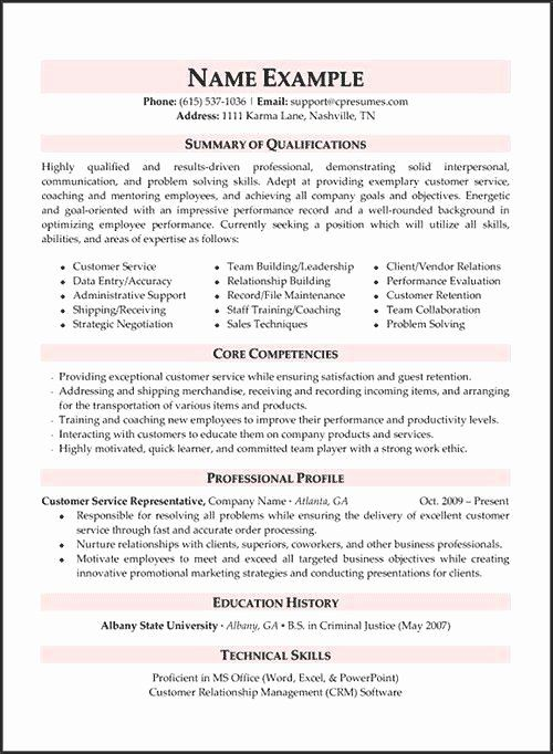 customer service qualifications resume fresh pin by steve
