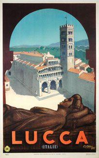 "Vintage Italian Posters ~ #illustrator #Italian #posters ~  ""Lucca""  G. Ghini - 1947"
