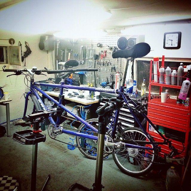 Enda en sniktitt på Areks prosjekt. Dette kan bli en skikkelig kul sykkel for hele Pro Sykkelservice-familien :-) #prosykkelservice #tandem #bicycletouring