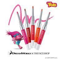 [The Face Shop] X Trolls Ink Draw Dual Lips (Choose 1) Trolls Edition