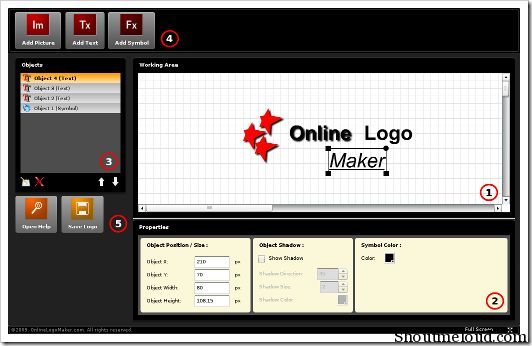 OnlineLogoMaker is a free online service which offers free logo creator tool. It is user-friendly and easy to use. Here is a tutorial on how to make logo using
