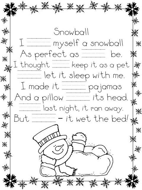 Funny Shel Silverstein snowball poem!