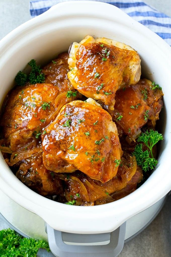 This Slow Cooker Apricot Chicken Is Salty-Sweet Perfection  Delicious Links