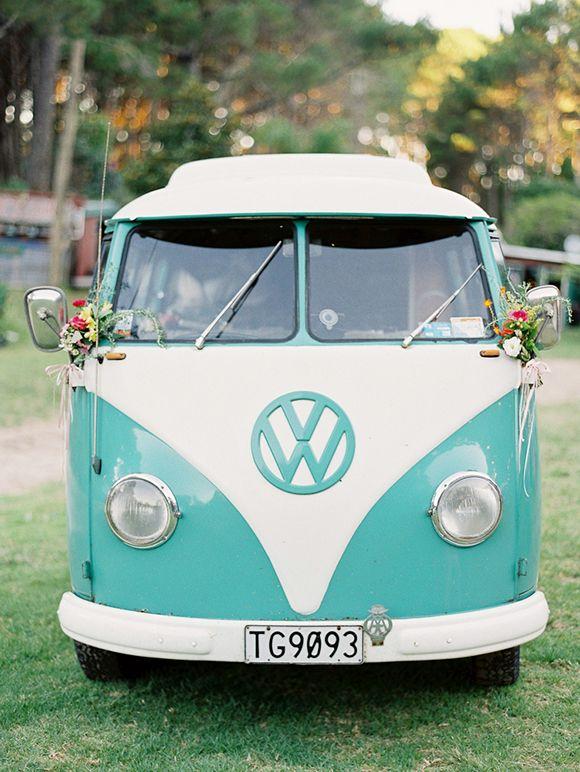 Combi wolswagen en turquoise!