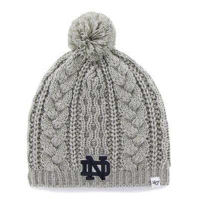 348ab7aa40b ... promo code for womens 47 brand gray notre dame fighting irish kiowa ski knit  beanie love ...