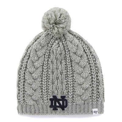 Women's '47 Brand Gray Notre Dame Fighting Irish Kiowa Ski-Knit Beanie