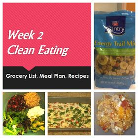 Broke and Bougie: Week 2 Clean Eating Meal Plan and Grocery List