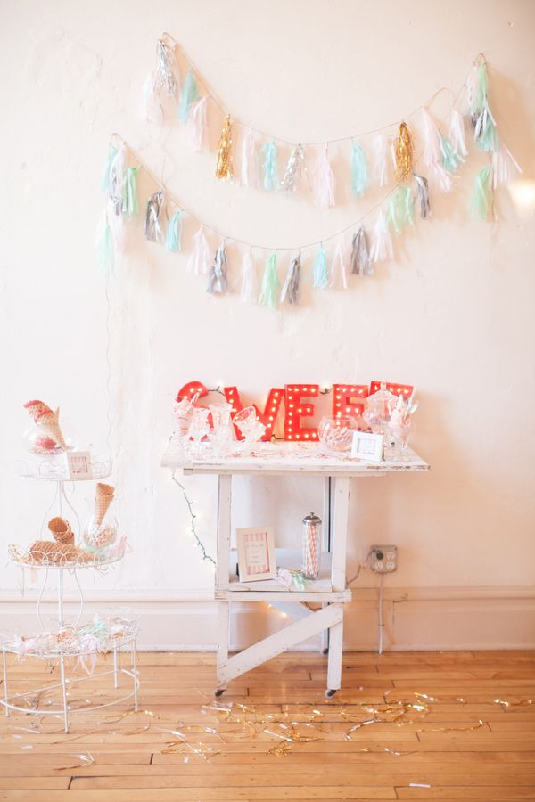 adorable dessert table idea // photo by Erin Forehand // view more: http://ruffledblog.com/red-and-white-wedding-ideas/