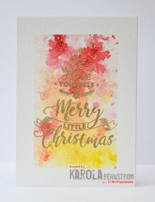 InvisiblePinkCards: Handmade super quick and easy Christmas card using Brushos and STAMPlorations stamps